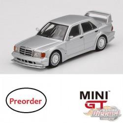 Mercedes-Benz 190E 2.5-16 Evolution II DTM Silver  -  MINI GT 1:64 - Mijo Exclusive - MGT00170  - Passion Diecast