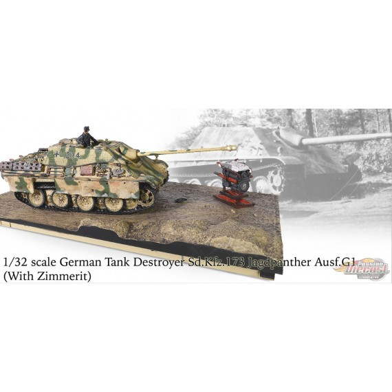 German Sd.Kfz. 173 Jagdpanther -  3 Kompanie, Normandy, August 1944 - 1/32 Forces of Valor 801007A - Passion Diecast