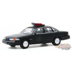 1992 Ford Crown Victoria Police Interceptor  - Black  Bandit  Series 23,  1-64 Greenlight 28030 E Passion Diecast
