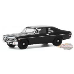 1968 Chevrolet Nova - Black  Bandit  Series 23,  1-64 Greenlight 28030 B  Passion Diecast