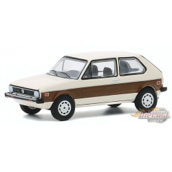 1977 Volkswagen Rabbit with Woody Graphics - Club Vee-Dub Series 11  - Greenlight 1/64  - 30000 E  -  Passion Diecast