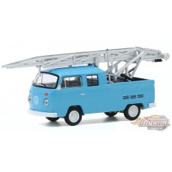 1973 Volkswagen Type 2 Double Cab Pickup Ladder Truck  - Club Vee-Dub Series 11  - Greenlight 1/64  - 30000 D - Passion Diecast