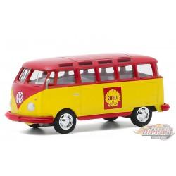 1964 Volkswagen Samba Bus - Shell Oil  - Club Vee-Dub Series 11  - Greenlight 1/64  - 30000 B - Passion Diecast