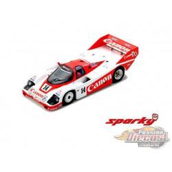 Porsche 956 No.14 2nd 24H Le Mans 1985 J. Palmer - J. Weaver - R. Lloyd - SPARKY 1/64 - Y181B - Passion Diecast