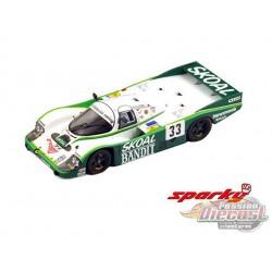 """Porsche 956 No.33 3rd 24H Le Mans 1984 D. Hobbs - P. Streiff - S. van der Merwe"""" - SPARKY 1/64 - Y178B - Passion Diecast"""