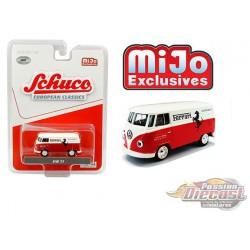 Volkswagen T1 Panel Bus - Ferrari Automobiles White/Red - Schuco 1:64 MiJo Exclusives - 4700 -  Passion Diecast