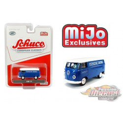 Volkswagen T1 Panel Bus - Porsche Diesel Blue with white top - Schuco 1:64 MiJo Exclusives - 4800 - Passion Diecast
