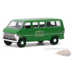1970 Ford Club Wagon - Board of Education -  (Hobby Exclusive) 1/64 Greenlight - 30170 -  Passion Diecast