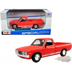 "1973 Datsun 620 Pick-up ""Li'l Hustler"" - Red - Maisto 1/24 - 31522 RD - Passion Diecast"