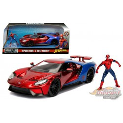 2017 Ford GT with Spider-Man Figure -  Jada 1/24 - 99725  - Passion Diecast