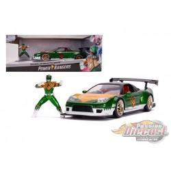 Power Rangers - 2002 Honda NSX Type-R with Green Ranger figure -  Jada 1/24 - 31909 - Passion Diecast