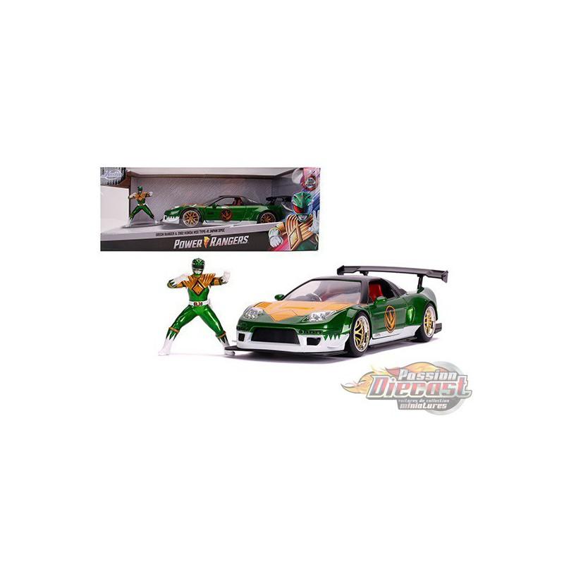 JADA 1:24 POWER RANGER GREEN RANGER /& HONDA NSX TYPE R JAPAN SPEC 31909