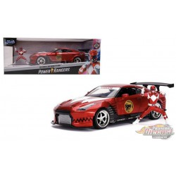 Power Rangers - Nissan GT-R R35 with Red Ranger figure -  Jada 1/24 - 31908 - Passion Diecast