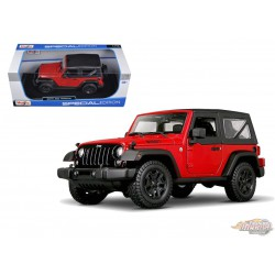 2014 Jeep Wrangler Willy's Edition red -  Maisto 1-18 - 31676 RD - Passion Diecast