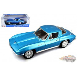 1965 Chevrolet Corvette Coupe blue - Maisto 1-18 - 31640 BL  - Passion Diecast
