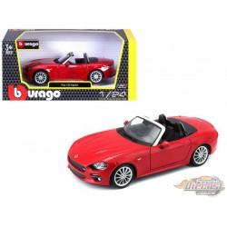 Fiat 124 Spider Red - Bburago 1-24 - 21083 RD - Passion Diecast