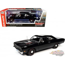 1969 Plymouth Road Runner Black - Hemmings Muscle Machines  Autoworld -1-18 -  AMM1213   -  Passion Diecast