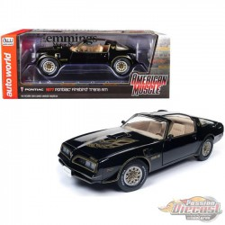 1977 Pontiac Firebird Trans AM  Black - Hemmings Motor -  Autoworld - 1-18 -  AMM1177 -  Passion Diecast