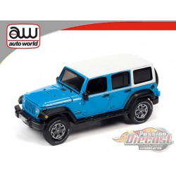 Jeep Wrangler JK Unlimited Sport Blue with white top - Auto World 1:64 Premium - AWSP054 A -  Passion Diecast
