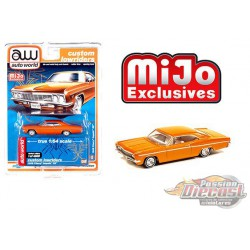 1966 Chevy Impala SS Metallic Orange - Lowriders - Auto World 1/64 MiJo Exclusives - CP7659 - Passion Diecast