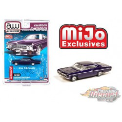 1966 Chevy Impala SS Metallic Purple - Lowriders - Auto World 1/64 MiJo Exclusives - CP7658 Passion Diecast