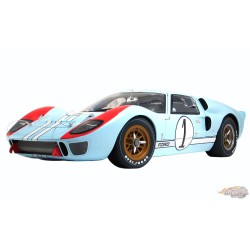 Ford GT40 MKII no1 - Ken Miles and Denny Hulme - 2nd Place - 1966 Le Mans  Masterpiece Collection 1/12  M1201003 Diecast