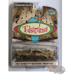 """1957 Plymouth Belvedere - Desert Gold -""""Tulsarama"""" 2007 Underground Vault Unearthing - GREENMACHINE 1/64  - 30158GR"""