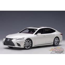 Lexus LS 500h Sonic White Metallic Black Interior - AUTOart 1/18 - 78866