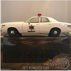 1977 Plymouth Fury - Hazzard County Sheriff - The Dukes of Hazzard -  GREENMACHINE 1/24 , 84095GR