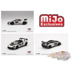 McLaren Senna Silver -  MINI GT 1:64 - Mijo Exclusive - MGT00171  - Passion Diecast
