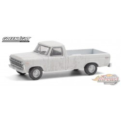 1973 Ford F-100 - weathered White Oncle Jesse - greenlight 1/64  Hobby Exclusive - 30217 - Passion Diecast