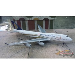 """Dragon Wings 1/400 Boeing 747-400 Singapore Airlines """"50 Years"""" / 9V-SMZ / NO BOX - Passion Diecast"""
