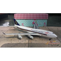"""Dragon Wings 1/400 Boeing 747-400 Singapore Airlines """"1000 of B-747"""" / 9V-SMU / NO BOX - Passion Diecast"""