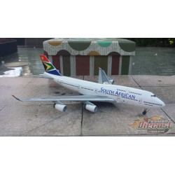 Dragon Wings 1/400 Boeing 747-400 South African Airways / ZS-SAX / NO BOX - Passion Diecast