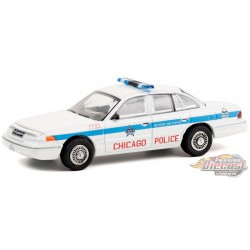 1995 Ford Crown Victoria Police Interceptor - Chicago Police Department - Hot Pursuit 36 - 1-64 Greenlight 42930 D  - Diecast