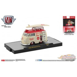 1960 VW DELIVERY MINI VAN Coca Cola With Surf Board -  M2  1:64  - 52500-BB02 B - Passion Diecast