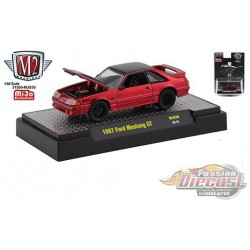 1987 Ford Mustang GT 5.0 Twin Turbo Fox Body  -  M2 Machines 1:64 Hobby Exclusive Detroit Muscle- 31500-HS07  - Passion Diecast