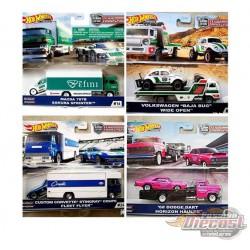 Team Transport J Case Set of 4 - Hotwheels 1/64  -  FLF56-956J -  Passion Diecast