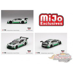 Bentley Continental GT3 Presentation Silver -  MINI GT 1:64 - Mijo Exclusive - MGT00176 - Passion Diecast