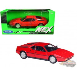 1987 BMW M1 Coupe Red  - Welly 1/24 - 24098 RD - Passion Diecast