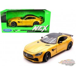 Mercedes AMG GT R Yellow  with Carbon Top  - Welly 1/24 - 24081 YL  - Passion Diecast