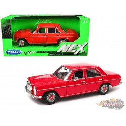 1973  Mercedes Benz 220  Red   - Welly 1/24 - 24091 RD  - Passion Diecast