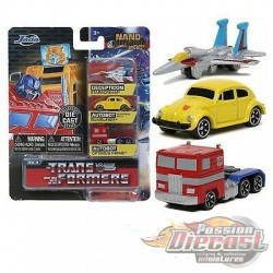 Transformers  set of 3 Hollywood Rides -  Jada Nano - 31761  - Passion Diecast