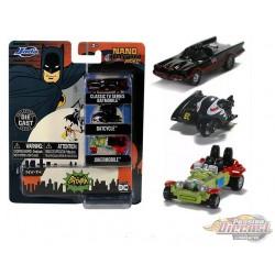 Batman Classic TV Series -  set of 3 Hollywood Rides -  Jada Nano - 31988 - Passion Diecast
