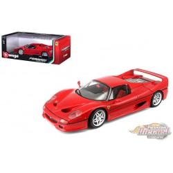 1995 Ferrari F50  Red -  Bburago 1/18 - 18 16004 RD - Passion Diecast