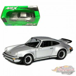1974 Porsche 911 Turbo 3.0 Silver - Welly 1/24 - 24043 Sil - Passion Diecast