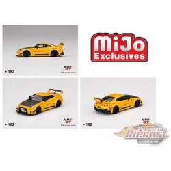 LB-Silhouette WORKS GT NISSAN 35GT-RR Ver.1 Yellow -  MINI GT 1:64 -  MGT00182 - Passion Diecast