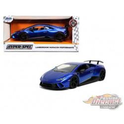 """Lamborghini Huracan Performante Blue  """"Hyper-Spec"""" - Jada 1/24 - 32256 - Passion Diecast"""