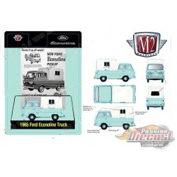 1965 Ford Econoline With Camper Shell  -   M2 Machines 1:64 Hobby Exclusive - 31500 HS16 - Passion Diecast