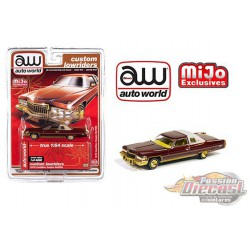 1976 Cadillac Coupe Deville Brown - Lowriders - Auto World 1/64 MiJo Exclusives - CP7660 - Passion Diecast
